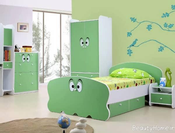 رنگ سبز اتاق خواب