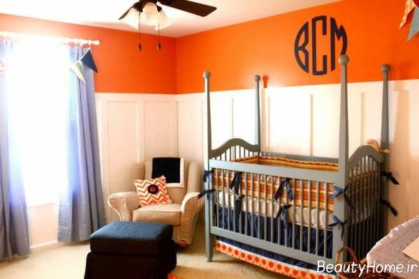 دکوراسیون نارنجی اتاق کودک