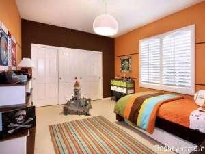 دکوراسیون نارنجی برای اتاق کودک