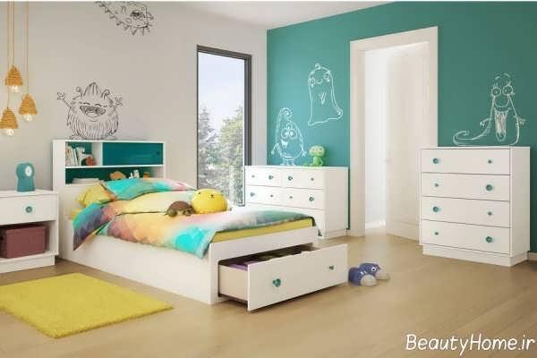 دکوراسیون زیبا و مدرن برای اتاق کودک