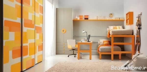 رنگ زیبا و دلنشین برای اتاق پسرانه