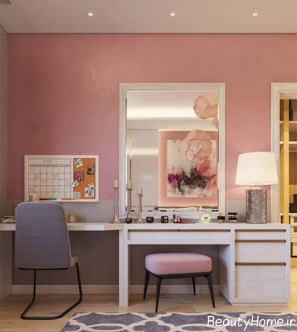 میز مخصوص آرایش با طرح شیک
