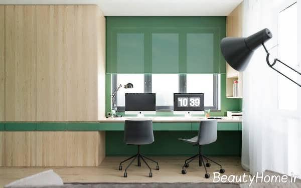 طراحی جذاب مینیمال اتاق کار