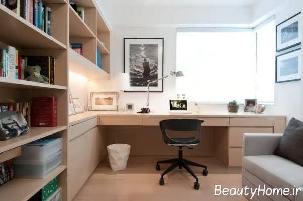 طراحی عالی مینیمال اتاق کار