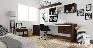اتاق کار مینیمال با دیزاین متفاوت