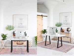 دیزاین ساده اتاق کار