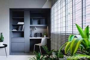 اتاق کار با طراحی لاکچری مینیمال