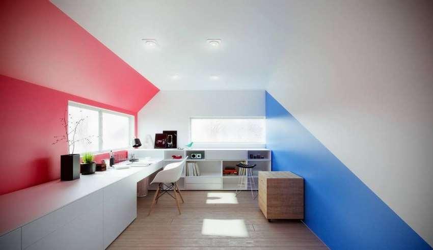 اتاق کار با طراحی مینیمالیستی