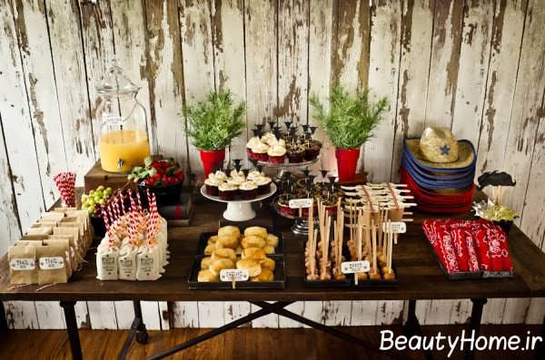تزیین شیک و جالب برای میز تولد