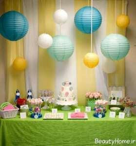 تزیین زیبا میز تولد برای کودکان