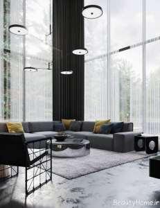 دیزاین متفاوت منزل با تم سیاه