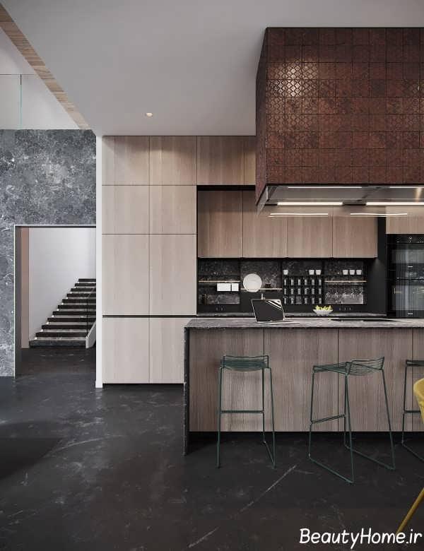 تم تیره در دیزاین آشپزخانه