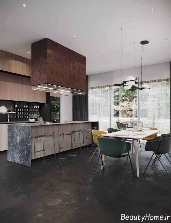 طراحی فوق العاده منزل با تم سیاه