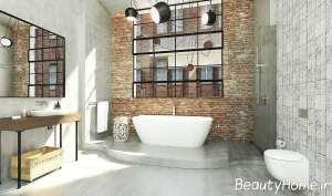 حمام با طرح صنعتی