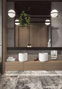 حمام با طراحی صنعتی