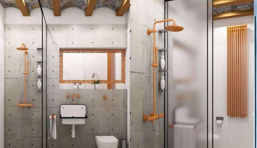 دیزاین جذاب حمام صنعتی