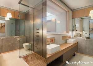 طراحی حمام به سبک صنعتی