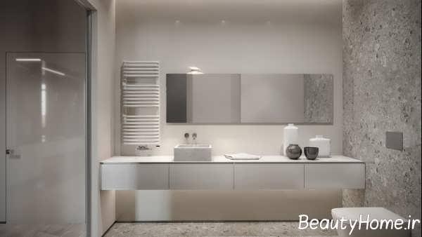طراحی شیک آشپزخانه با تم خاکستری