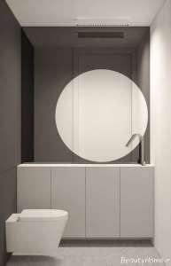 رنگ خاکستری مات در دکوراسیون حمام