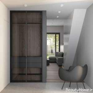طراحی زیبای منزل با تم خاکستری