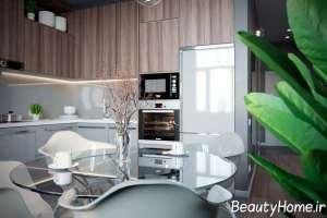طراحی فوق العاده منزل با تم خاکستری