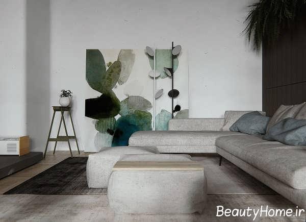 طراحی داخلی اتاق پذیرایی آپارتمان