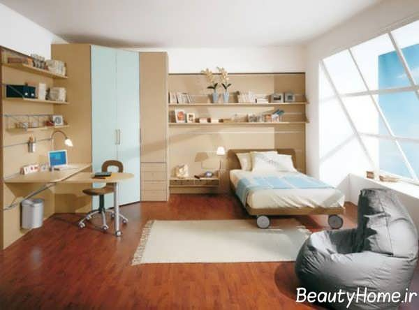 اتاق پسرانه با دیزاین مدرن