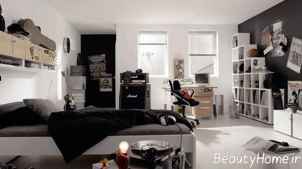 طراحی ساده اتاق پسرانه