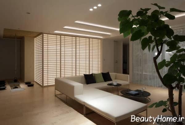 دیزاین مدرن اتاق پذیرایی ویلا