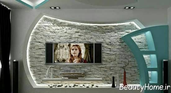 کناف زیبا برای پشت تلویزیون