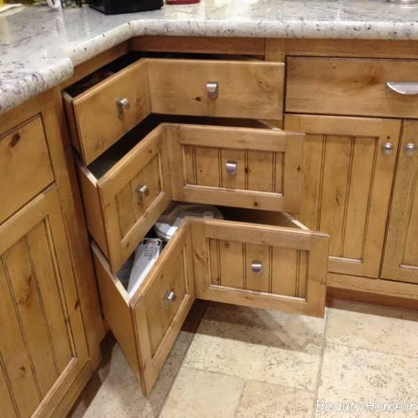 مدل کابینت گوشه آشپزخانه با طرح های متفاوت و کاربردی