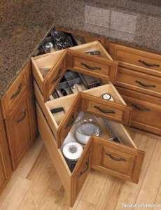 کابینت کشویی برای آشپزخانه