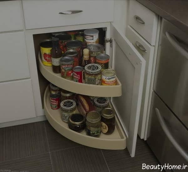 مدل کابینت شیک برای گوشه آشپزخانه
