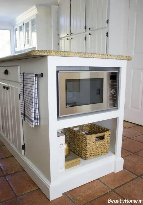 مدل کابینت سفید برای گوشه آشپزخانه