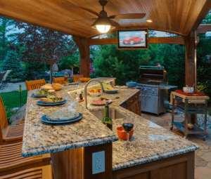 دکوراسون متفاوت آشپزخانه در فضای باز