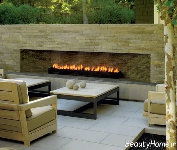طراحی شیک بخشی از منزل در محیط بیرون