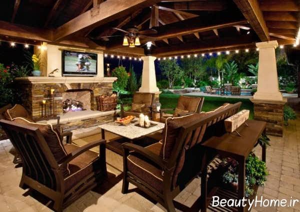 طراحی جالب منزل در بیرون