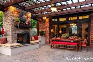 دکوراسیون فوق العاده منزل در محیط بیرون