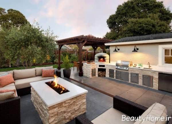 طراحی بخشی از منزل در محیط بیرون