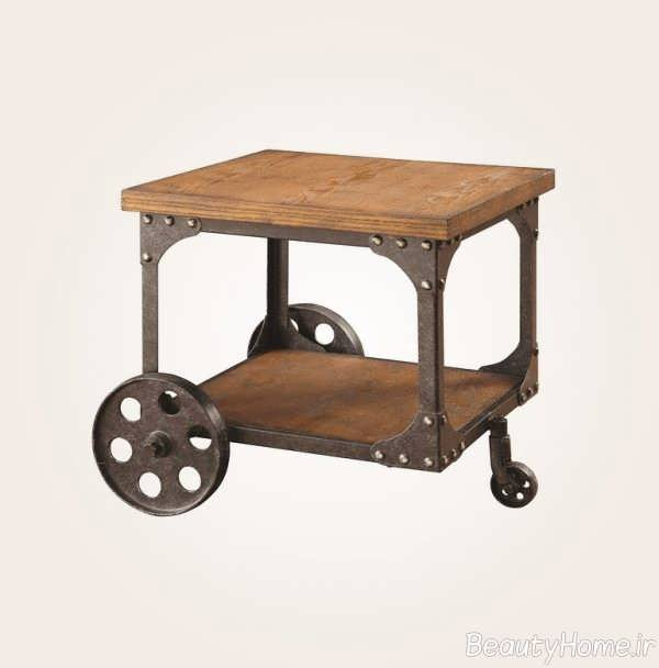 میز عسلی چرخ دار