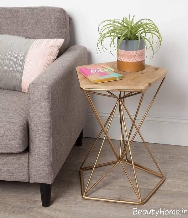 طراحی میز عسلی چوبی