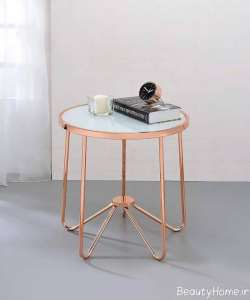 ظراحی ساده میز عسلی فلزی