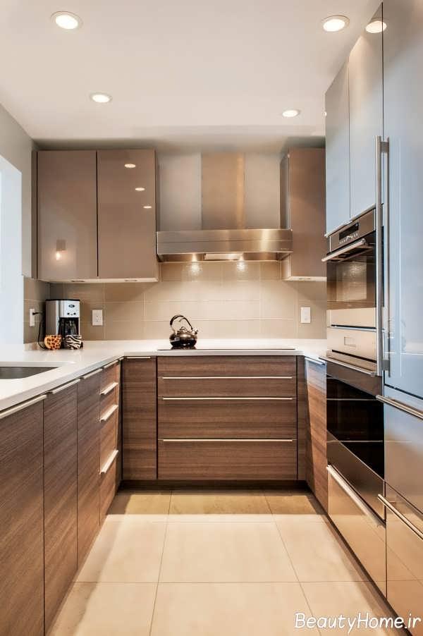 دکوراسیون داخلی قهوه ای آشپزخانه