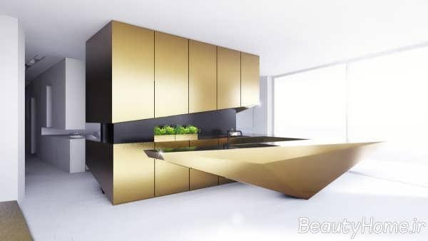 دکوراسیون طلایی آشپزخانه