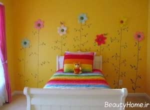 دکوراسیون اتاق خواب کودک با رنگ زرد