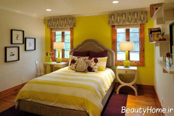 دکوراسیون زیبا و شیک اتاق خواب دو نفره