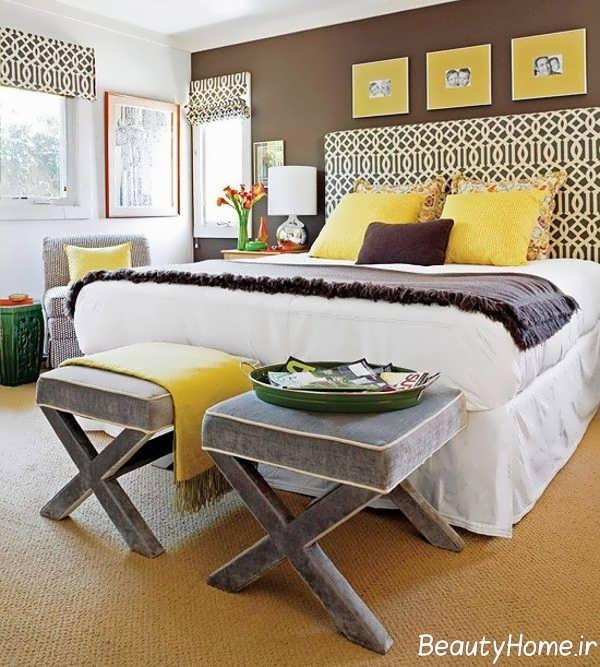 دکوراسیون زرد اتاق خواب