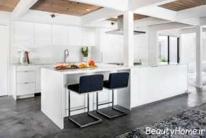 آشپزخانه با طراحی لاکچری گالی