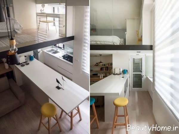 آشپزخانه با طراحی جذاب گالی