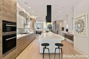 آشپزخانه با طراحی عالی گالی